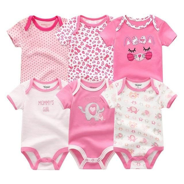 4d4227cc3 2018 6PCS/lot Newborn Cotton 0-12M Baby Girl Clothes Bodysuit Roupa de  bebedresskily