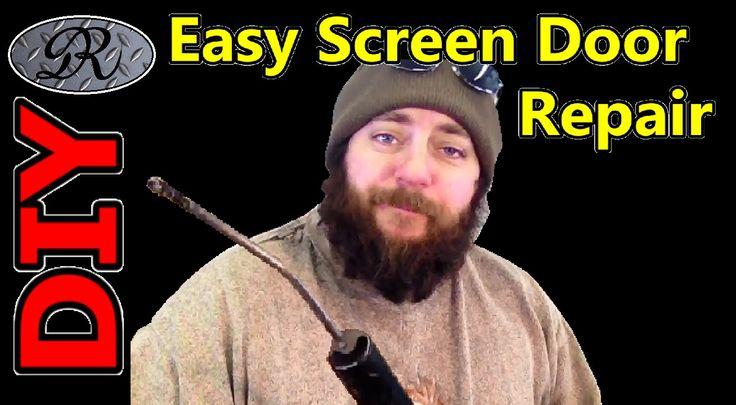 Diy easy screen door repair wind bent the pressure