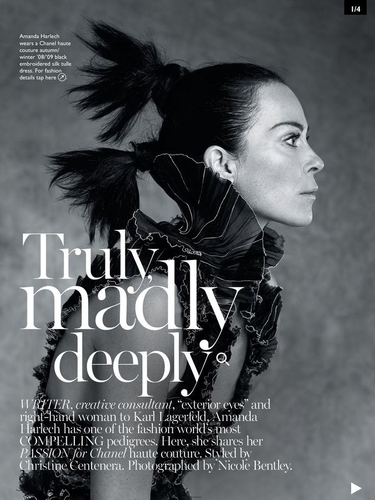 Amanda Harlech for Vogue Australia November 14 issue Manucure By me.                                                                                                                                                                                 More