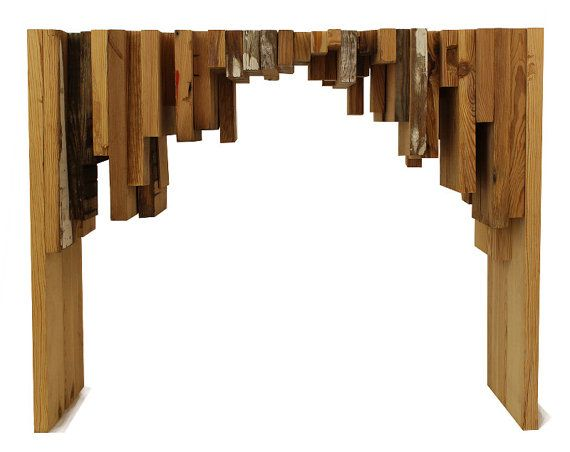 Chunky Modern Reclaimed Wood Console Table By INSEKDESIGN