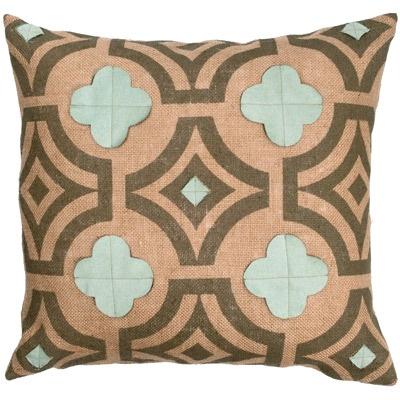 Spa Ultrasuede Quatrefoil Pillow @LaylaGrayce: Burlap Throw Pillows, Burlap Pillows, Burlap Pillow Ideas, Quatrefoil, Sconces, Homes, Aquamarine, Design, Spa