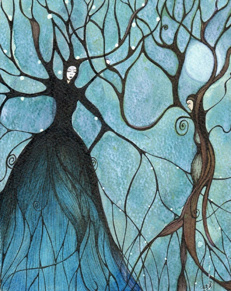 """Full Moon At Samhain by Eimear Brennan  """"The Feast of Samhain, also known as Halloween, marks one of the two great doorways of the Celtic year. This is a time of decay, letting go, releasing the old to die in order to be transformed."""