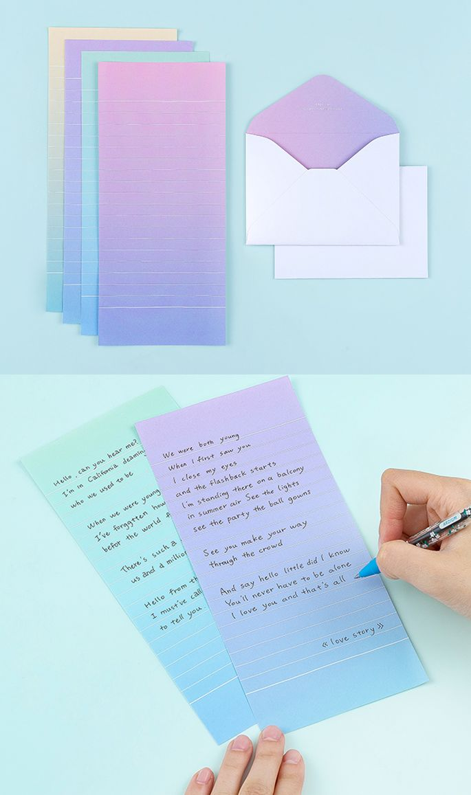 a gorgeous gradient stationery set yes please this mini pastel letter set