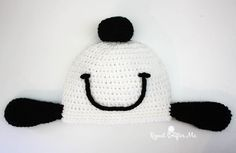 Crochet Snoopy Happy Dance Hat - Repeat Crafter Me