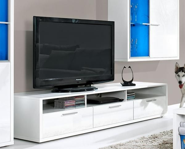 Contemporary Game Plus by Arte-M TV Unit in White/White or White/Oak #home #interiordesign #contemporaryfurniture #furniture #house #interiors