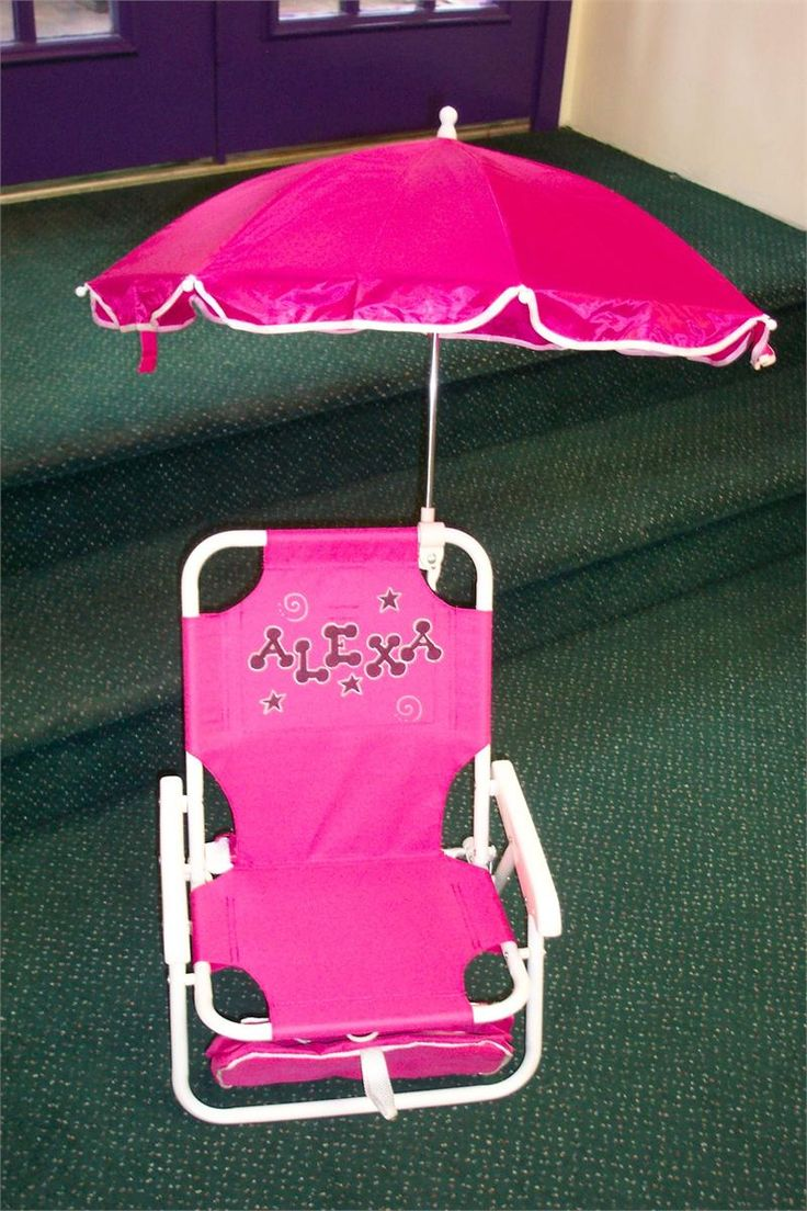 Always my 1st birthday gift - Personalized Folding Beach Chair with Umbrella