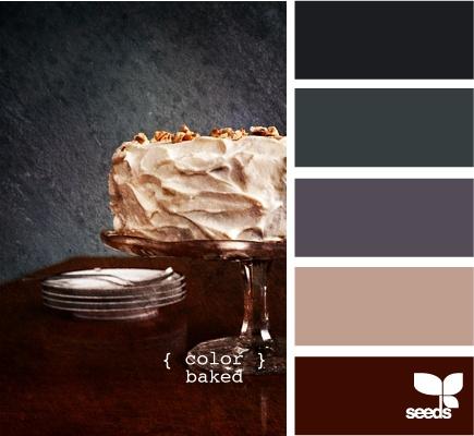 Colour scheme - coffee cake monochromatic browns