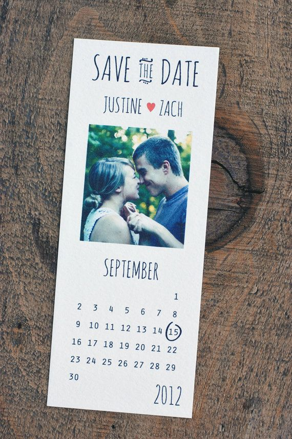 Custom Calendar Save the Date by SnailMailDesignShop on Etsy