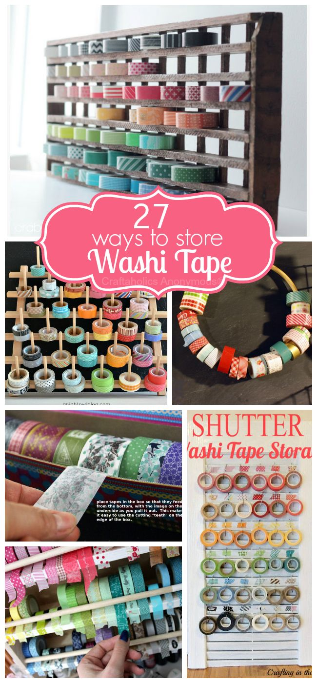 Lots of great ways to store Washi Tape! #washi #ta - #home_design #home_decor #home_ideas #kitchen #bedroom #living_room #bathroom - http://myshabbyhomes.com/lots-of-great-ways-to-store-washi-tape-washi-ta/