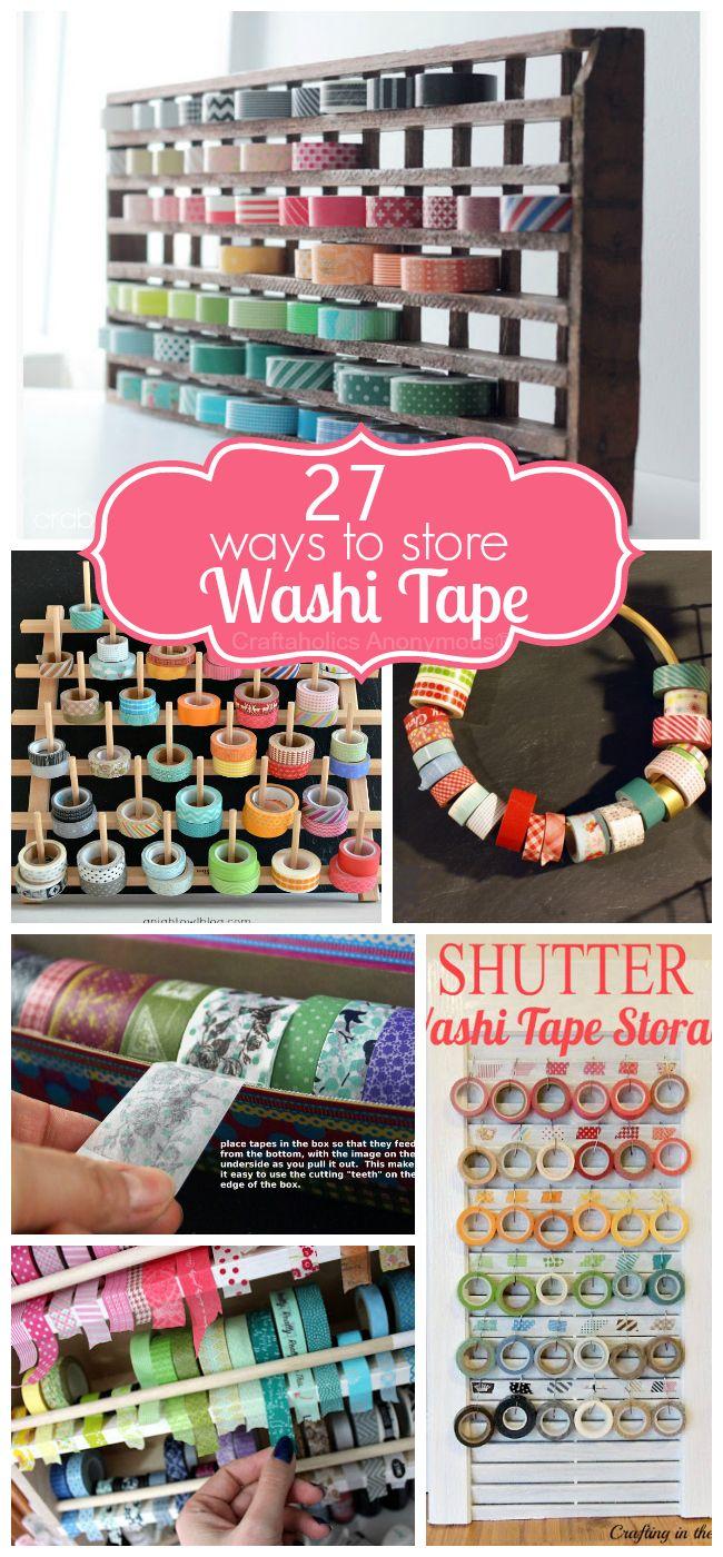 27 Washi Tape Storage Ideas