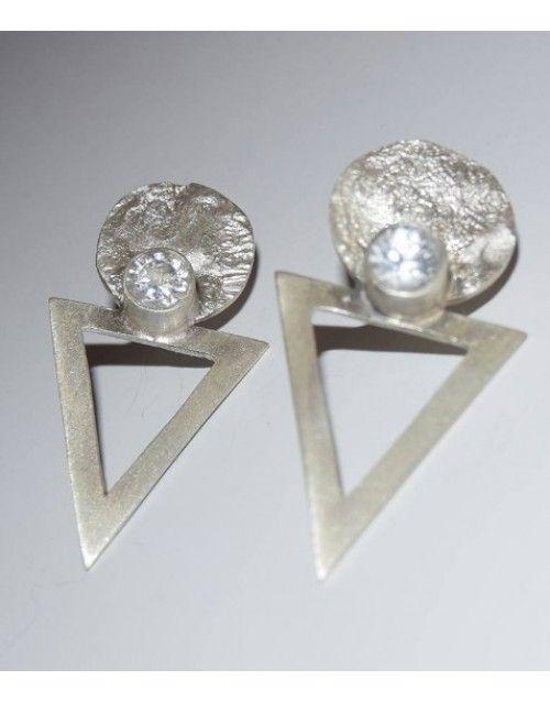 Χειροποίητα σκουλαρίκια, ασήμι 925 και ζιργκόν