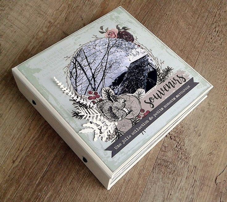Un album avec la collection de papiers Gypsy Forest de Florilèges Design