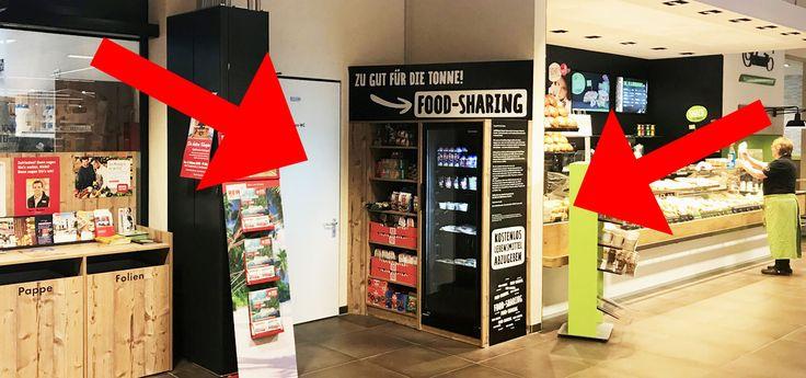 In einem Rewe-Markt in Bayern können Kunden kostenlos Lebensmittel mitnehmen – in der Filiale steht seit Kurzem ein eigenes Regal für Produkte mit abgelaufenem Mindesthaltbarkeitsdatum.