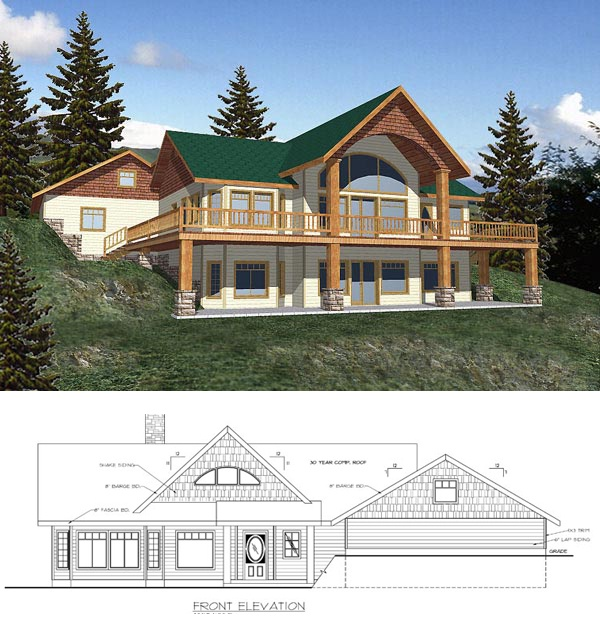 House Plans With Daylight Basements: Covered Porches, Basement Plans And Decks On Pinterest