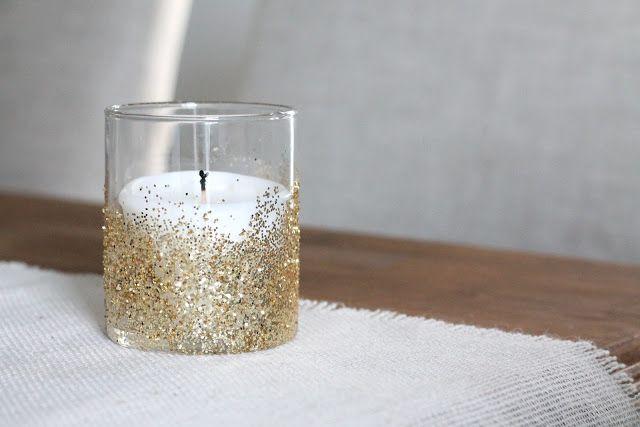 How To: DIY Glitter Votives.