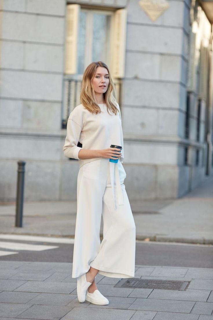 Modische Culotte in 7/8-Länge. #culotte #white #shirt #fashion