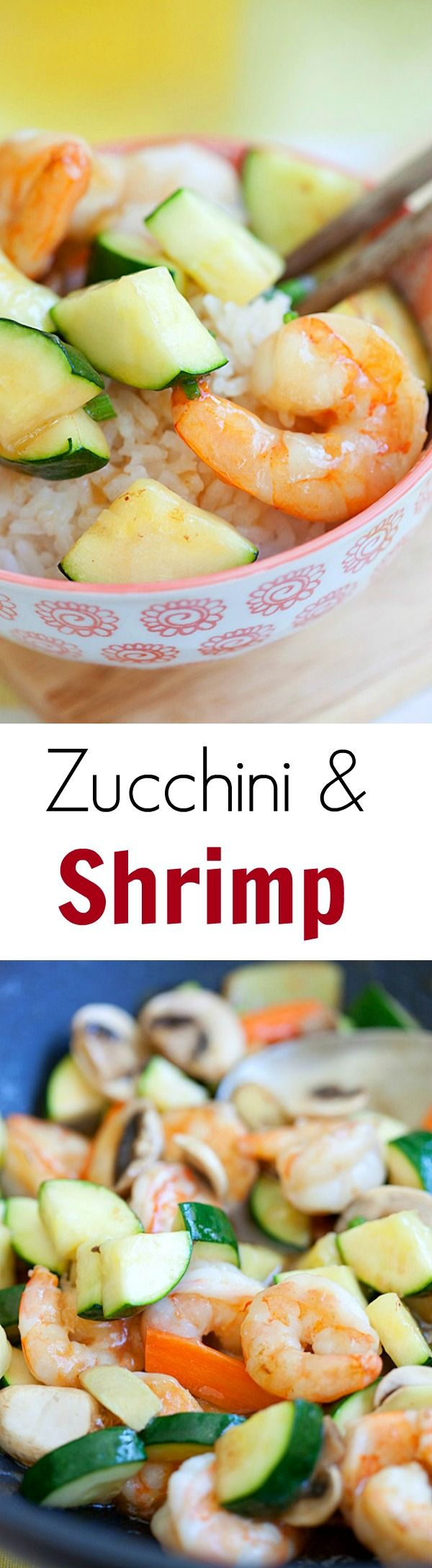 Zucchini and Shrimp Stir-Fry - Super easy, refreshing, yummy and takes less than 30 mins. Make it tonight for dinner!! | rasamalaysia.com