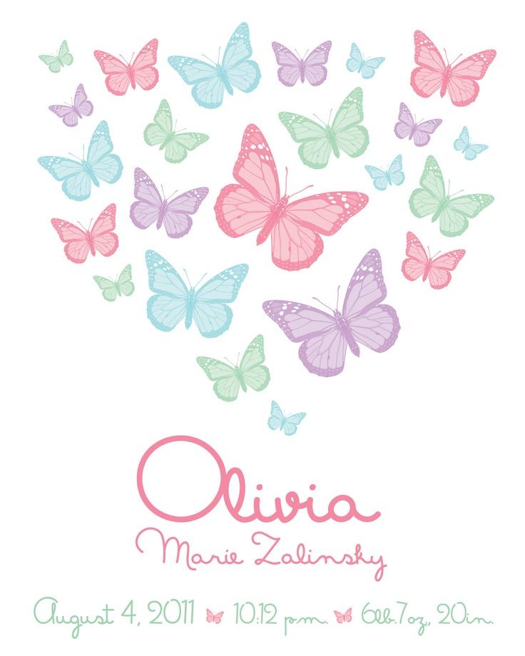 Geboortekaartje vlinders