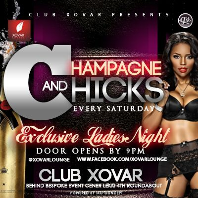 Chicks and Champagne..Ladies Night out at Xovar Lounge Saturdays from 9pm