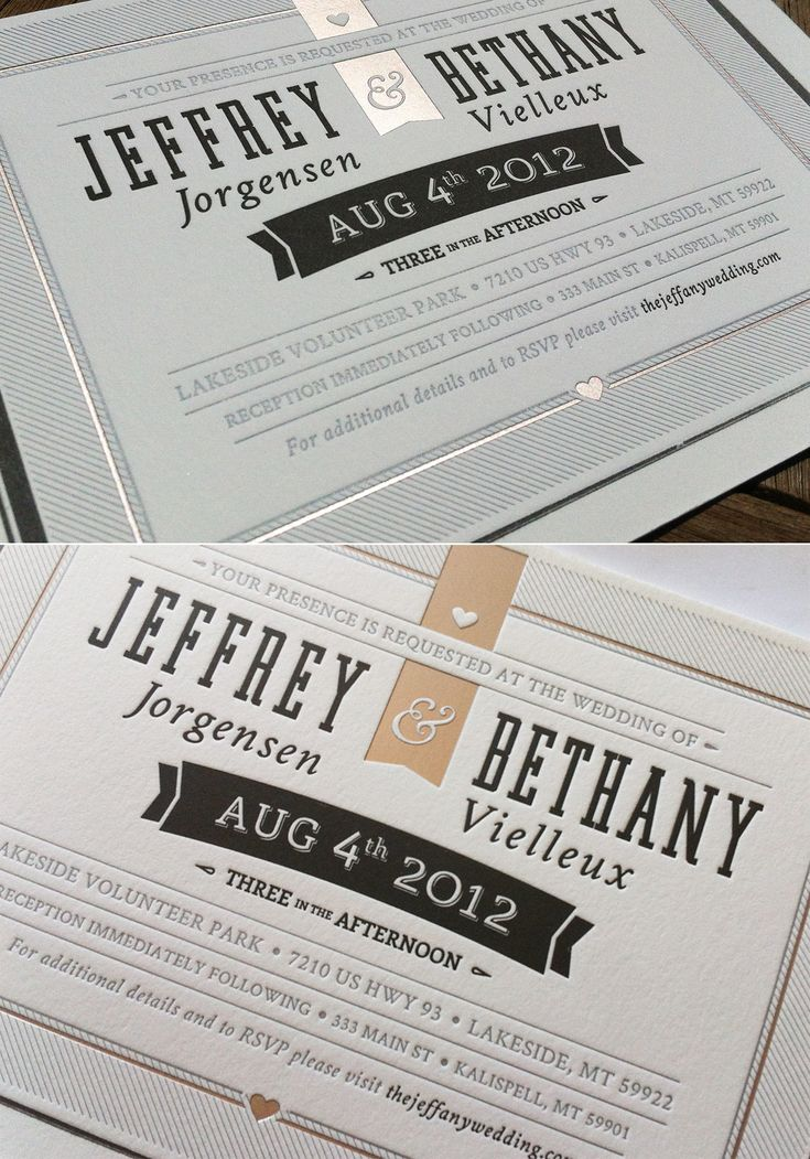 Printed Wedding Invite by Jeffrey Jorgensen http://dribbble.com/shots/626618-Printed-Wedding-Invite