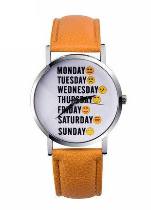 Kup mój przedmiot na #vintedpl http://www.vinted.pl/akcesoria/bizuteria/15990636-zegarek-z-dniami-tygodnia-w-jezyku-angielskim