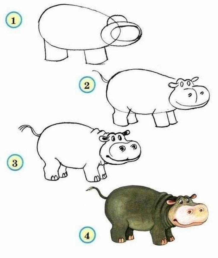 17 magnifiques animaux faciles à reproduire à partir d'ovales! Apprenez à dessiner facilement, étape par étape!