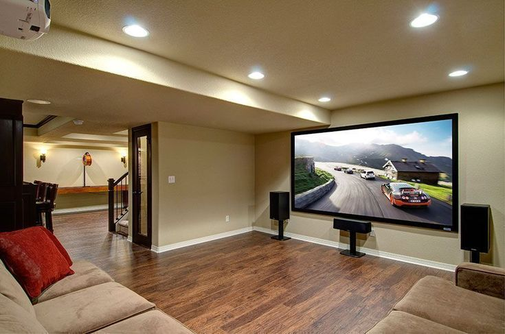 Basement home theater ideas, DIY, small spaces, budget, medium, inspiration, awesome, concession stands, TVs, decor, projectors, rec rooms, sofas, stairs, bedrooms and entertainment center #diyhometheater #hometheaterdiy #hometheaterprojectordiy