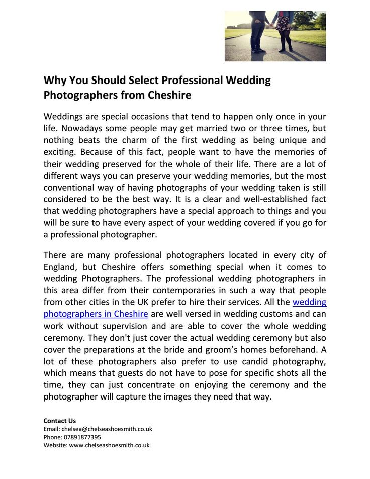 Why you should select professional wedding photographers from cheshire