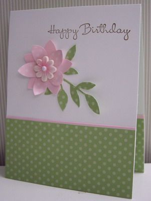 Pink Blossom Birthday - CC377 by Loll Thompson - Cards and Paper Crafts at Splitcoaststampers