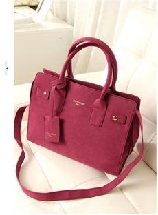 Classic OL Style Simple Leather Handy One-shoulder Handbag