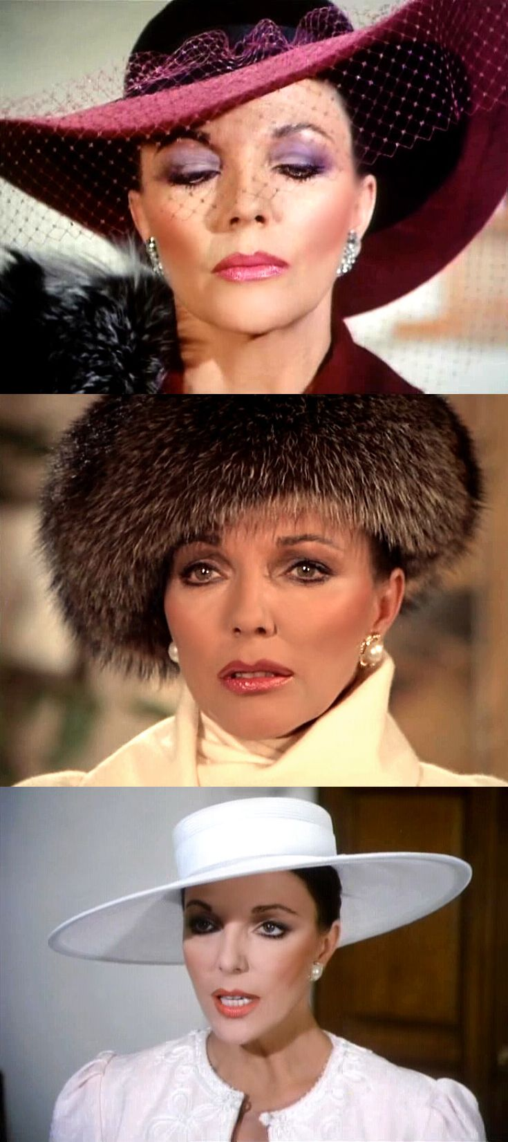 Joan Collins as 'Alexis Morrell Carrington Colby Dexter Rowan' in Dynasty (1981-89, ABC)