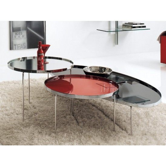 Billy #coffeetable with mirrored glass by #Cattelan Italia, design by Studio Kronos