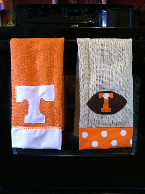 Decorative Tennessee Football towels by MeggieChap on Etsy