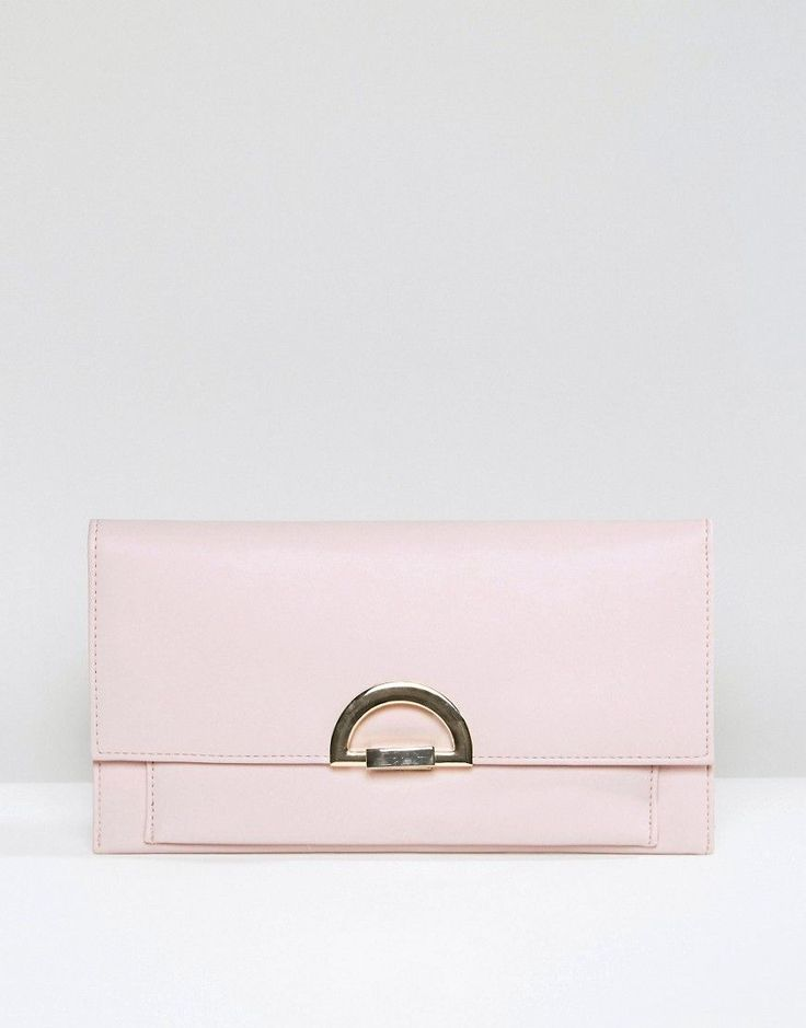 ASOS Slim Clutch Bag With Curved Lock - Purple