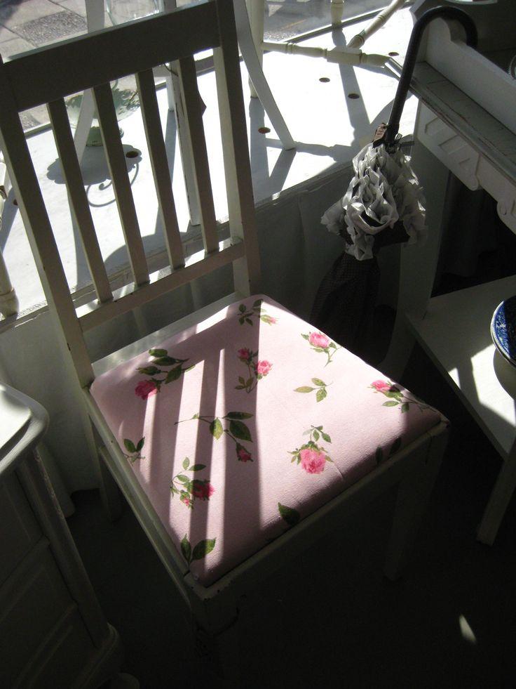 Sits i rosa och blommor
