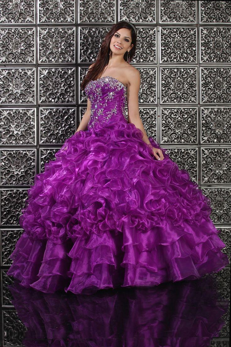 122 best VESTIDOS DE XV AÑOS images on Pinterest | 15 anos dresses ...