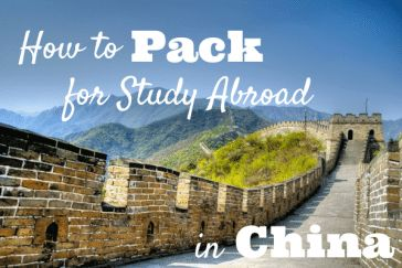 how to pack for study abroad in china