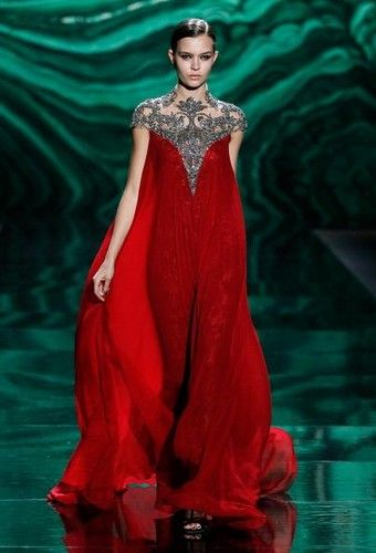 Monique Lhullier NY Fashion Week 2013 - gorgeous red gown!