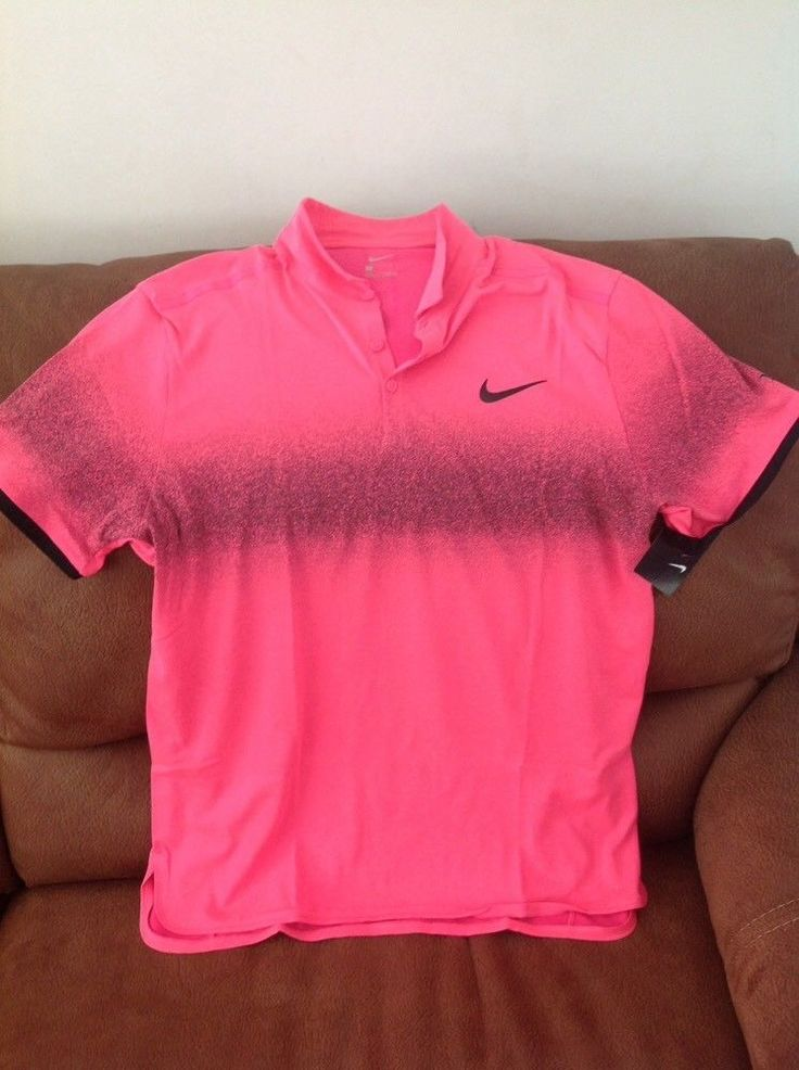 nike roger federer pink tennis polo shirt NWT size Large mens | Sports Mem, Cards & Fan Shop, Fan Apparel & Souvenirs, Tennis | eBay!