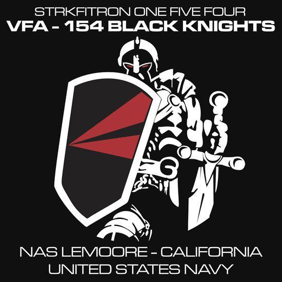 VFA-154 BLACK KNIGHTS SQUADRON T-SHIRTS