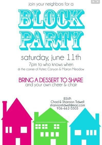Best 25 block party invites ideas on pinterest for Block party template flyers free