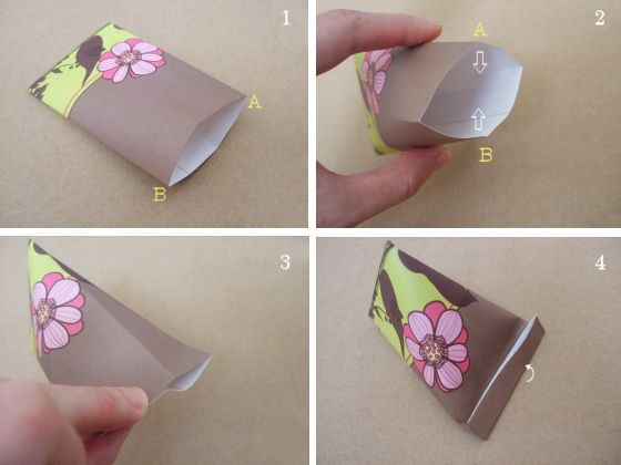 triangle paper bag