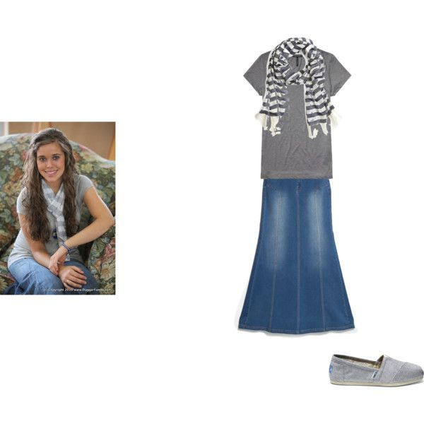 Jessa Duggar Style by bblackwill on Polyvore featuring Scotch & Soda, MANGO, TOMS and Brooks Brothers