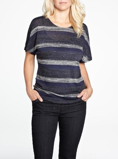 Striped scoop neck tee | Women | Shop Online at Reitmans