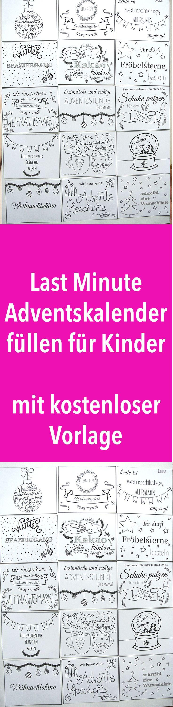 Last Minute Adventskalender füllen für Kinder – Zeit statt Zeug