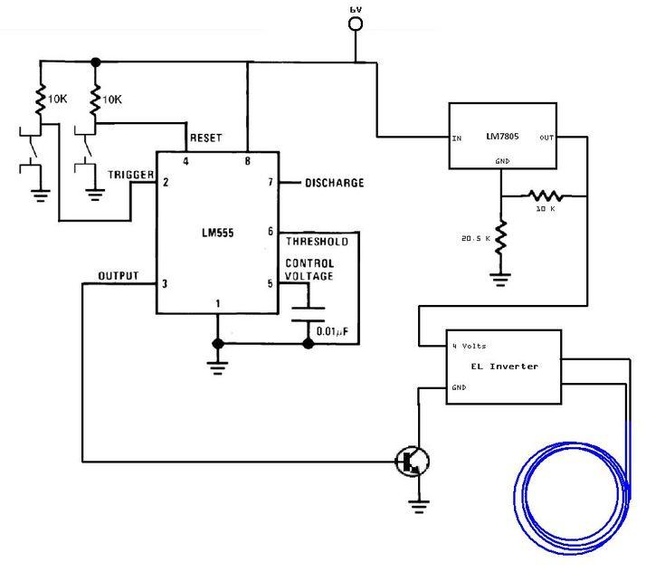 el wire inverter schematic on usb el wire