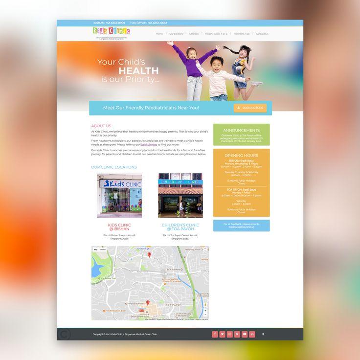 Kids Clinic Web Design and Development #inpixelhaus #website #webdesign #webdeveloper #webdesign #singapore #localbusiness #creativeagency #responsivedesign