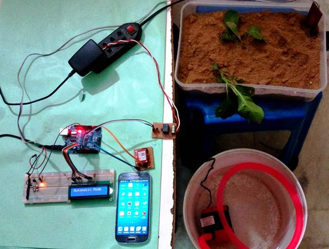 Arduino based Automatic Plant Irrigation Project with SMS Alert