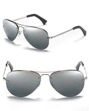 Ray-Ban Polarized Rimless Aviator Sunglasses | Bloomingdale\u0026#39;s
