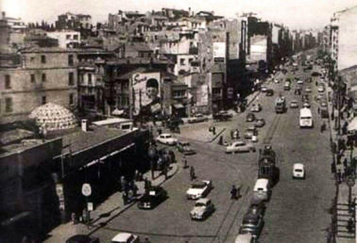 Harbiye Yıl ? Soldaki hamam şimdi Ramada Oteli.